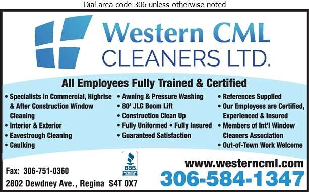 Western CML Cleaners Ltd - Window Cleaners Digital Ad
