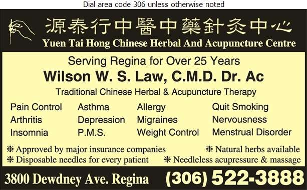 Yuen Tai Hong Chinese Herbal & Acupuncture Centre - Acupuncture Digital Ad