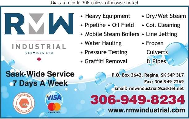 RMW Industrial Services - Steam Cleaning Industrial Digital Ad