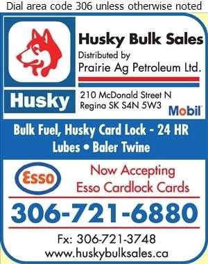 Husky Bulk Sales - Oils Fuel Digital Ad