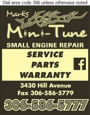 Mark's Mini-Tune - Lawn Mowers Sales & Service Digital Ad