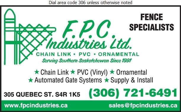 F P C Industries (1991) Ltd - Fences Digital Ad