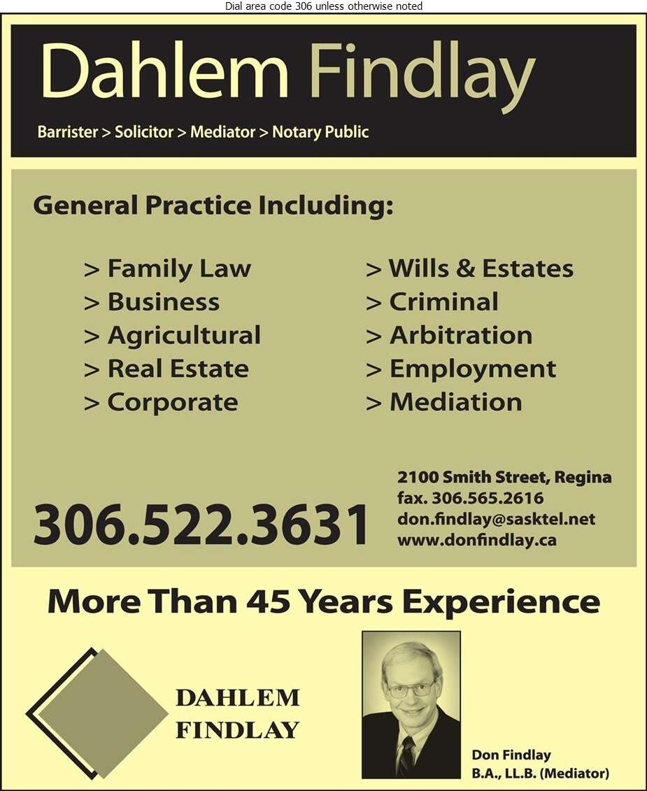 Findlay Donald G - Lawyers Digital Ad