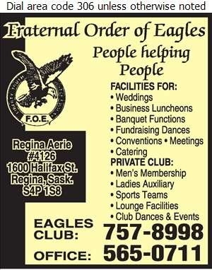 Fraternal Order of Eagles - Banquet Rooms Digital Ad