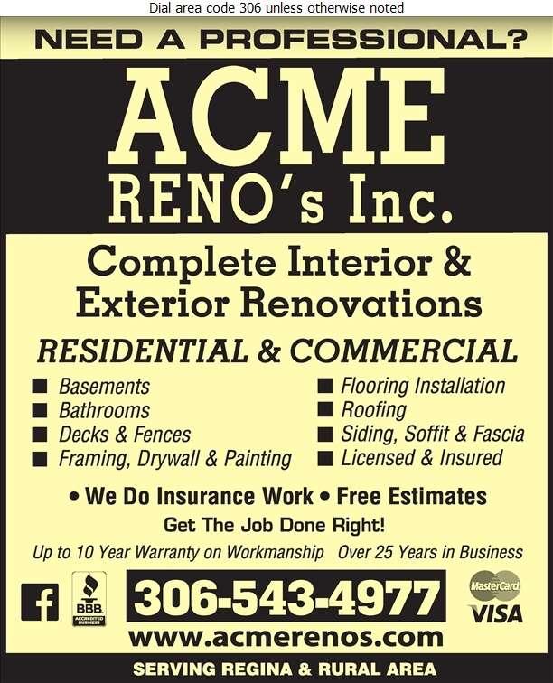 Acme Reno's Inc - Renovations Digital Ad