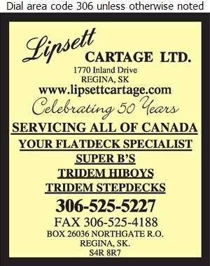 Lipsett Cartage Ltd - Trucking Digital Ad