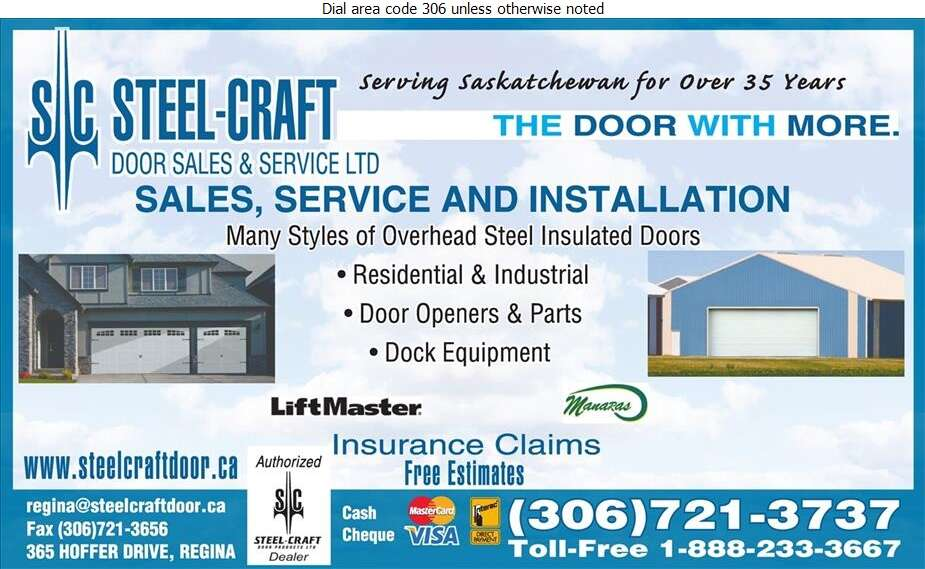 Steel-Craft Door Sales & Service Ltd - Doors Overhead Digital Ad