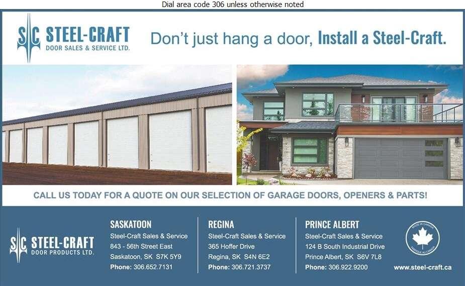 Steel-Craft Door Sales & Service Ltd - Doors Overhead Digital Ad
