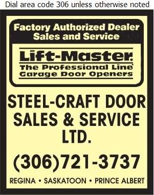Steel-Craft Door Sales & Service Ltd - Garage Door Openers Digital Ad