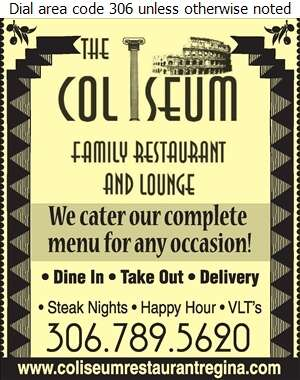 Coliseum Family Restaurant - Caterers Digital Ad