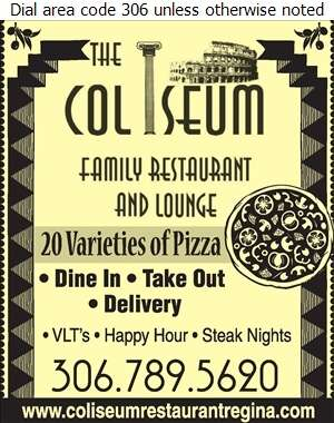 Coliseum Family Restaurant - Pizza Digital Ad