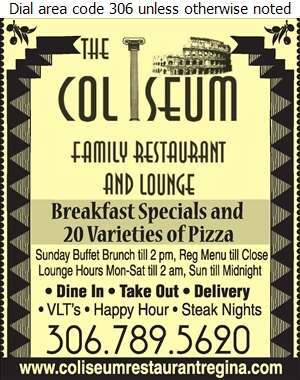 Coliseum Family Restaurant - Restaurants Digital Ad