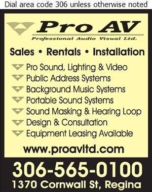 Pro AV - Sound Systems & Equipment Digital Ad