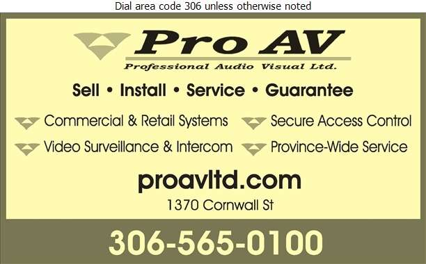 Pro AV - Security Control Equipment & Systems Digital Ad