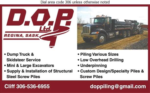 DOP Ltd - Excavating Contractors Digital Ad