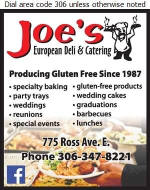 Joe's European Deli & Catering - Caterers Digital Ad