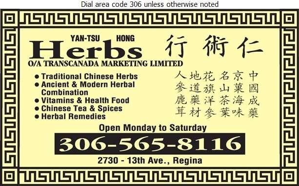 Yan-Tsu Hong Herbs - Health Food Products Digital Ad