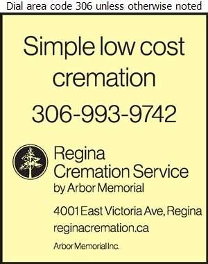 Regina Cremation Service - Crematorium Services Digital Ad