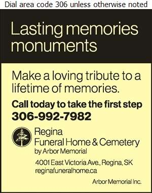 Regina Funeral Home & Cemetery - Monuments Digital Ad