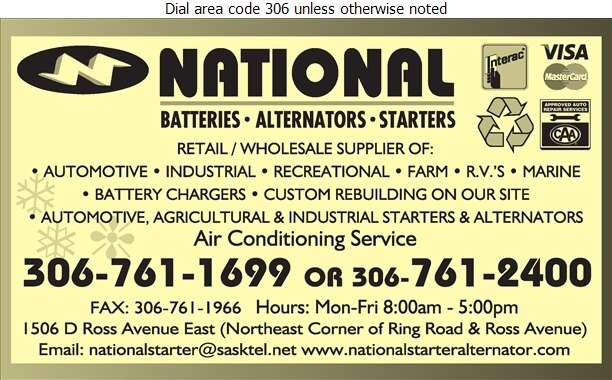 National Starter & Alternator Rebuilder Ltd - Batteries Storage Retail Digital Ad