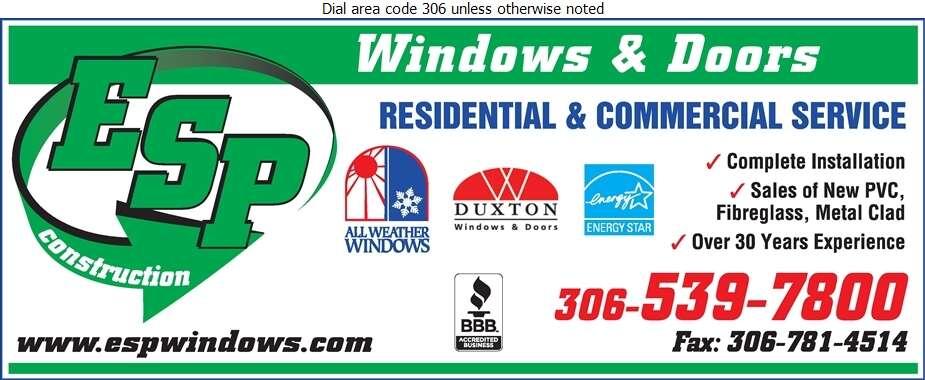 ESP Construction - Windows Digital Ad