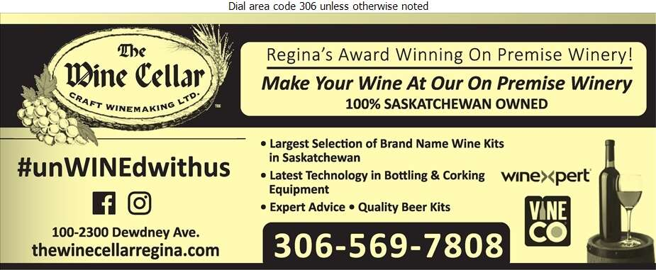 The Wine Cellar - Wine Makers' Equipment & Supplies Digital Ad