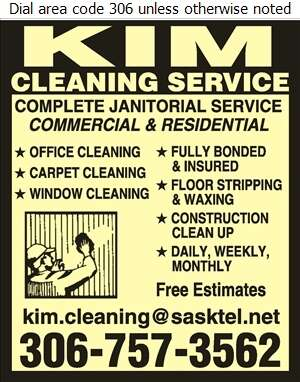 Kim Cleaning Service - Janitor Service Digital Ad