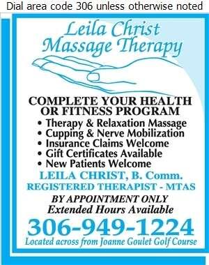 Leila Christ Massage Therapy - Massage Therapists Digital Ad