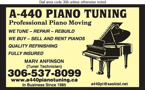 A-440 Piano Tuning - Pianos Tuning & Repairing Digital Ad