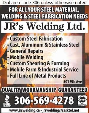 JR's Welding Ltd - Steel Digital Ad