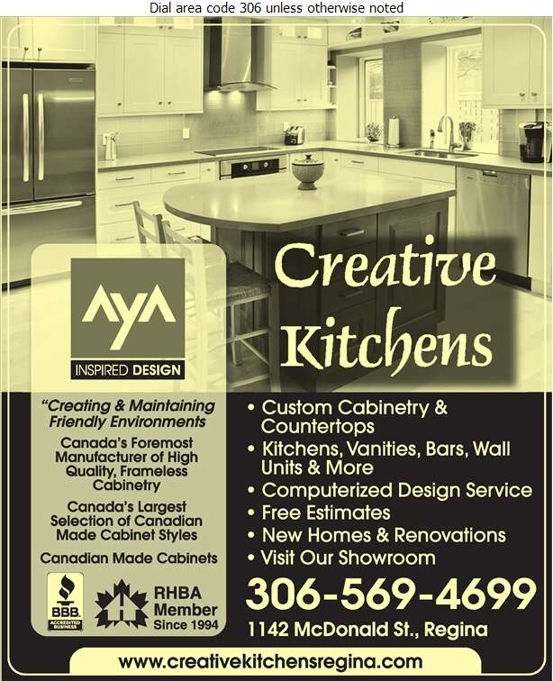 Creative Kitchens - Kitchen Cabinets & Equipment Digital Ad