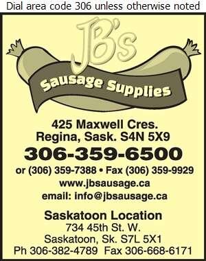 JB's Sausage Maker Supplies - Butchers' Equipment & Supplies Digital Ad