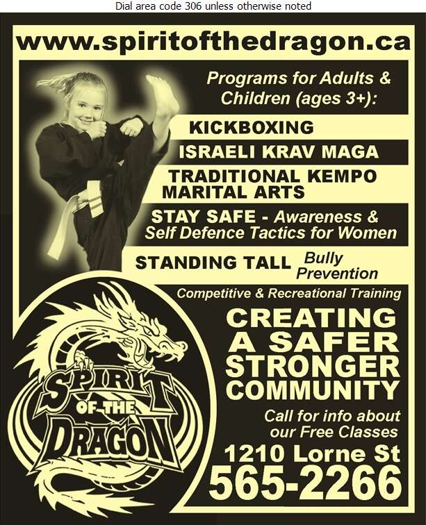 Spirit Of The Dragon Martial Arts School Ltd - Martial Arts Instruction Equipment & Supplies Digital Ad