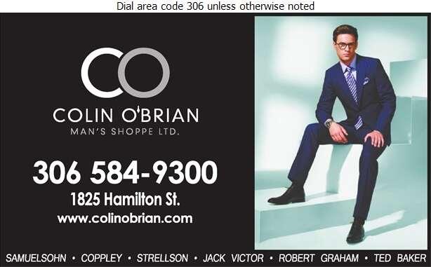Colin O'Brian Man's Shoppe Ltd - Mens Wear Retail Digital Ad