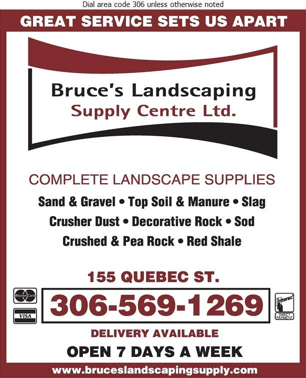 Bruce's Landscaping Supply Centre - Landscape Contractors & Designers Digital Ad