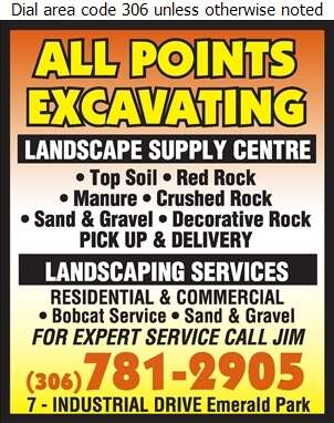 All Points Excavating - Landscape Contractors & Designers Digital Ad