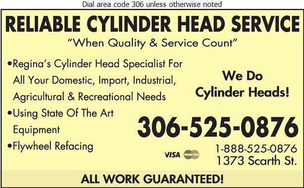 Reliable Cylinder Head Service - Machine Shops Auto Digital Ad