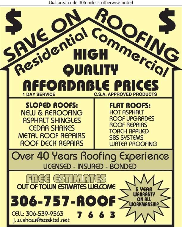 Save On Roofing - Roofing Contractors Digital Ad