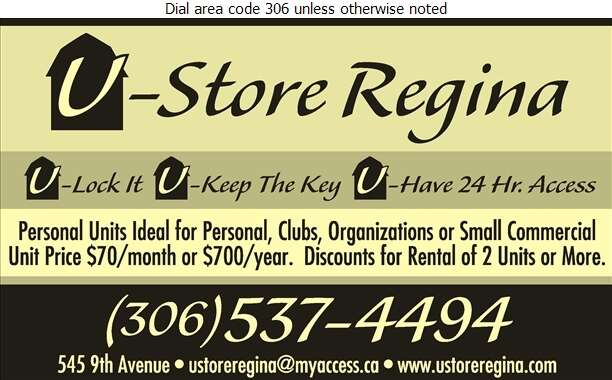 U-Store Regina - Storage- Household & Commercial Digital Ad