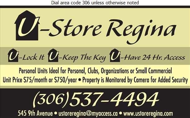 U-Store Regina - Storage- Household & Commercial Digital Ad