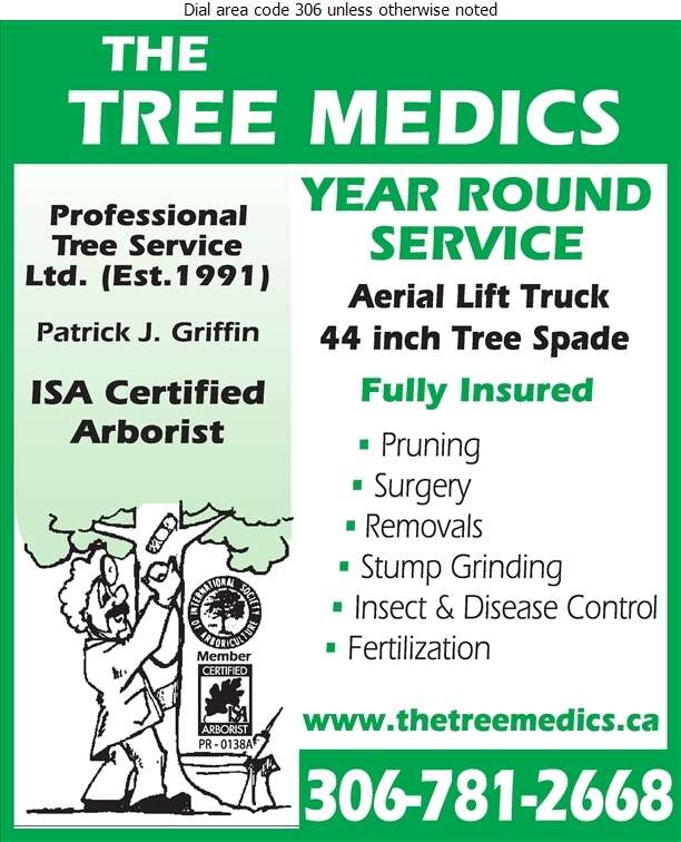 The Tree Medics Professional Tree Service Ltd - Tree Service & Stump Removal Digital Ad
