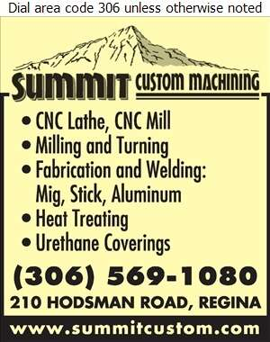 Summit Custom Machining Ltd - Machine Shops Digital Ad