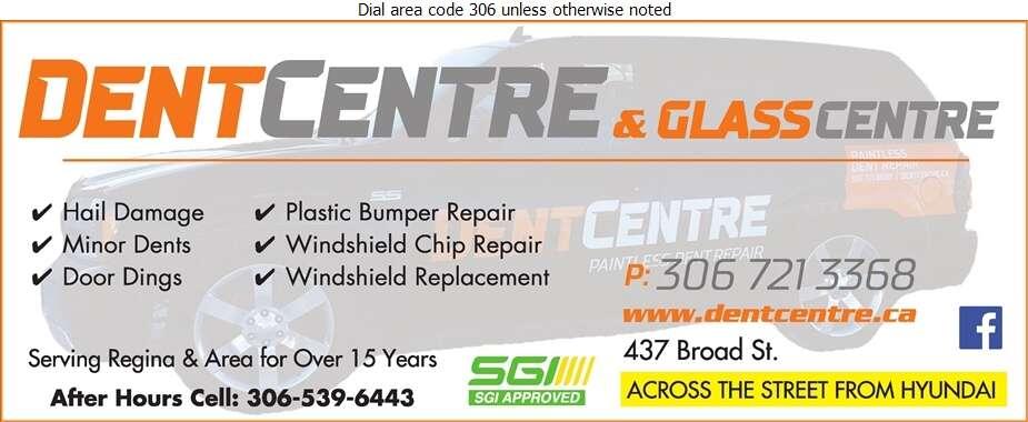 Dent Centre - Auto Body Repairing Digital Ad