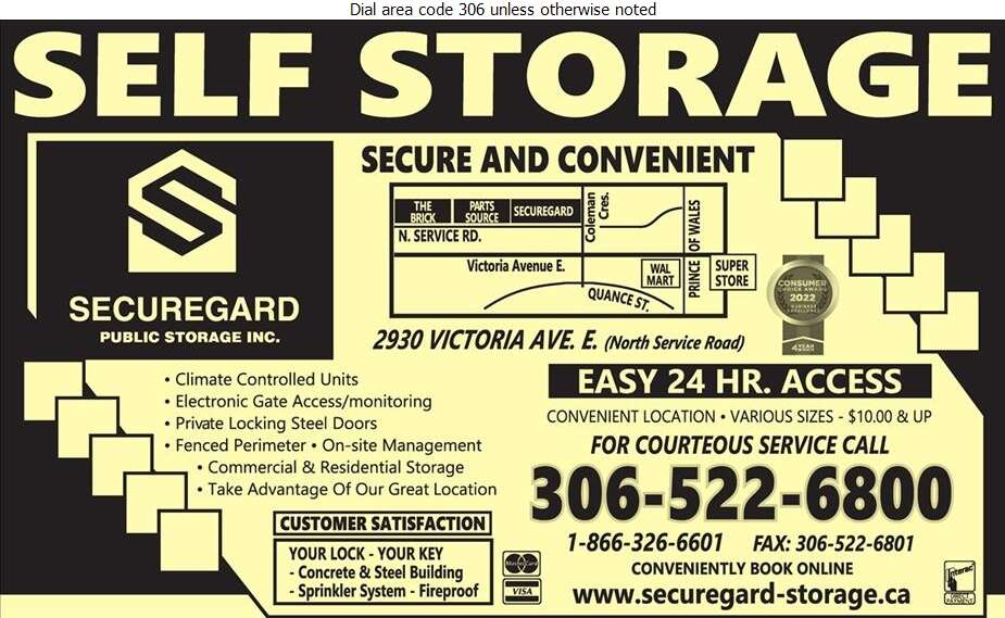 SecureGard Public Storage Inc - Storage- Household & Commercial Digital Ad