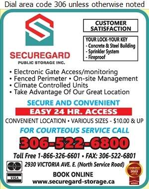 SecureGard Public Storage Inc - Office Records Stored Digital Ad