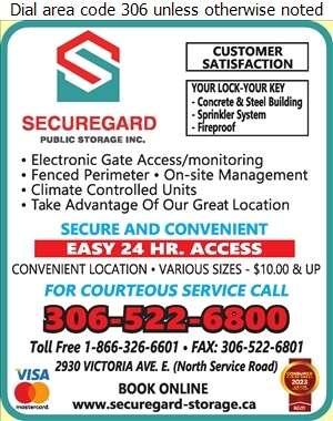 SecureGard Public Storage Inc - Office Records Stored Digital Ad