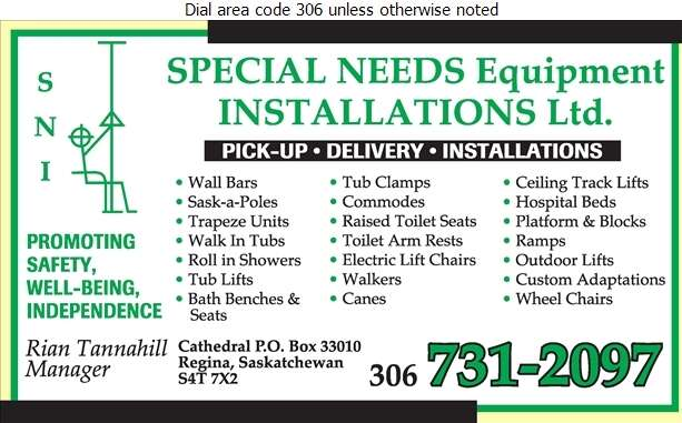 Special Needs Equipment Installations Ltd - Home Care Products Elderly & Disabled Digital Ad