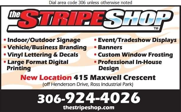 The Stripe Shop - Signs Digital Ad