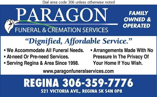 Paragon Funeral Services - Funeral Homes & Planning Digital Ad