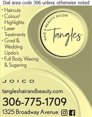 Tangles Hair & Beauty Salon - Beauty Salons Digital Ad